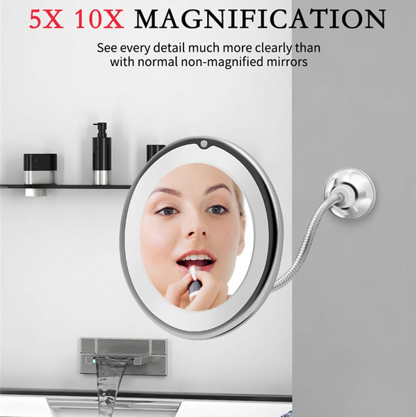 10x magnifying mirror with light wall mount