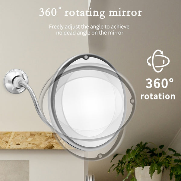 360 degree Flexible lighted Makeup 10x Mirror.