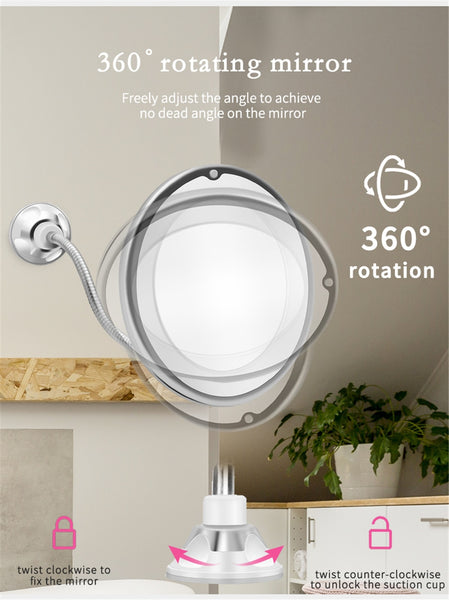 lighted makeup mirror 10x magnification