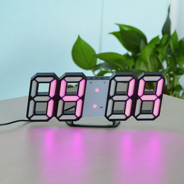digital wall clock with light