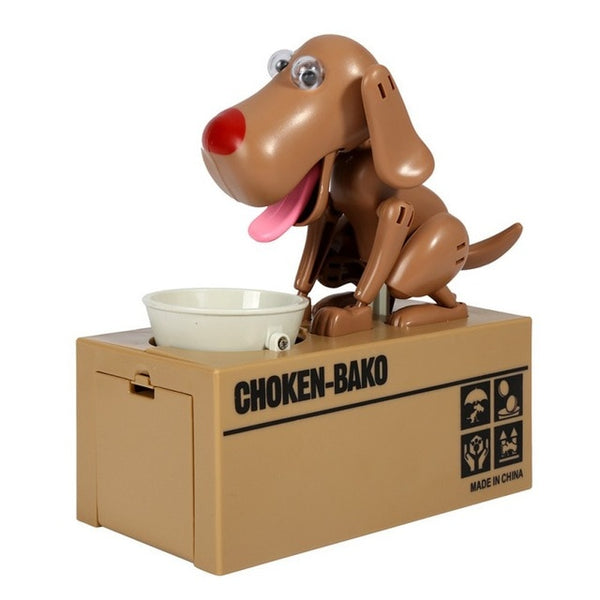 hungry eating dog coin bank