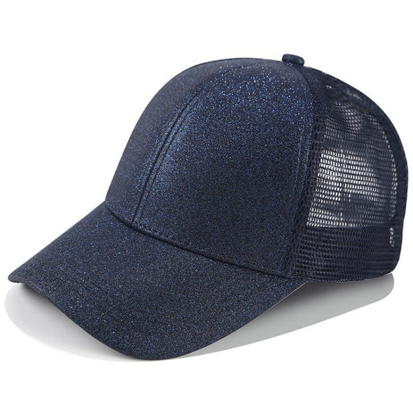 baseball cap with ponytail attached