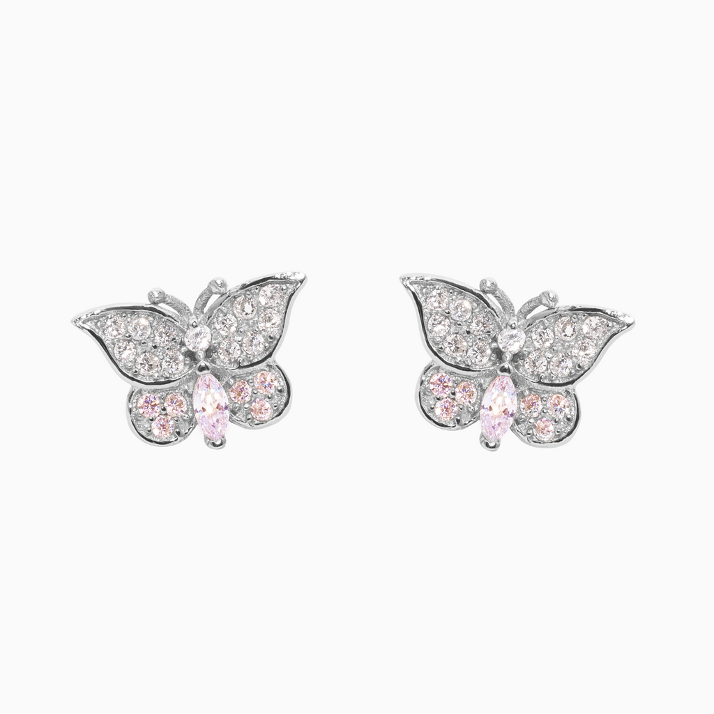 Ohrstecker BUTTERFLY Rosa