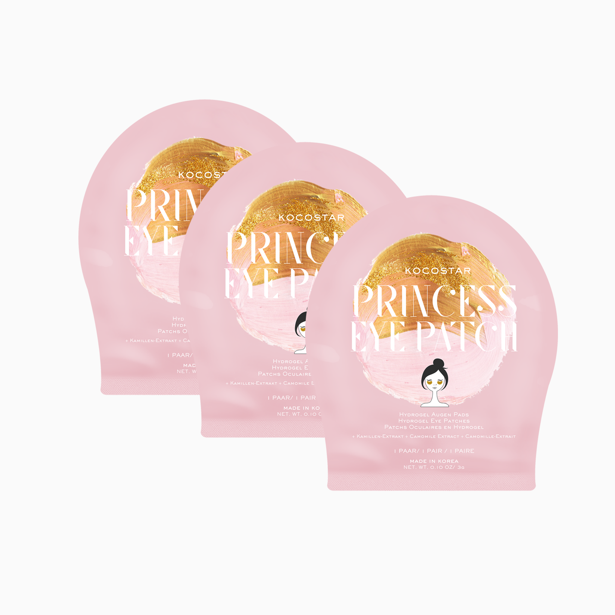 Princess Eye Patches - 3er Packung