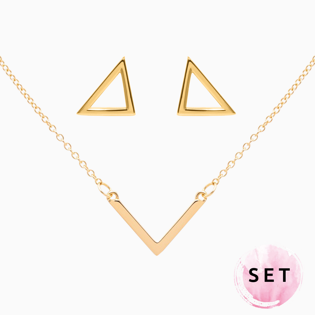 Set TRIANGLE gold