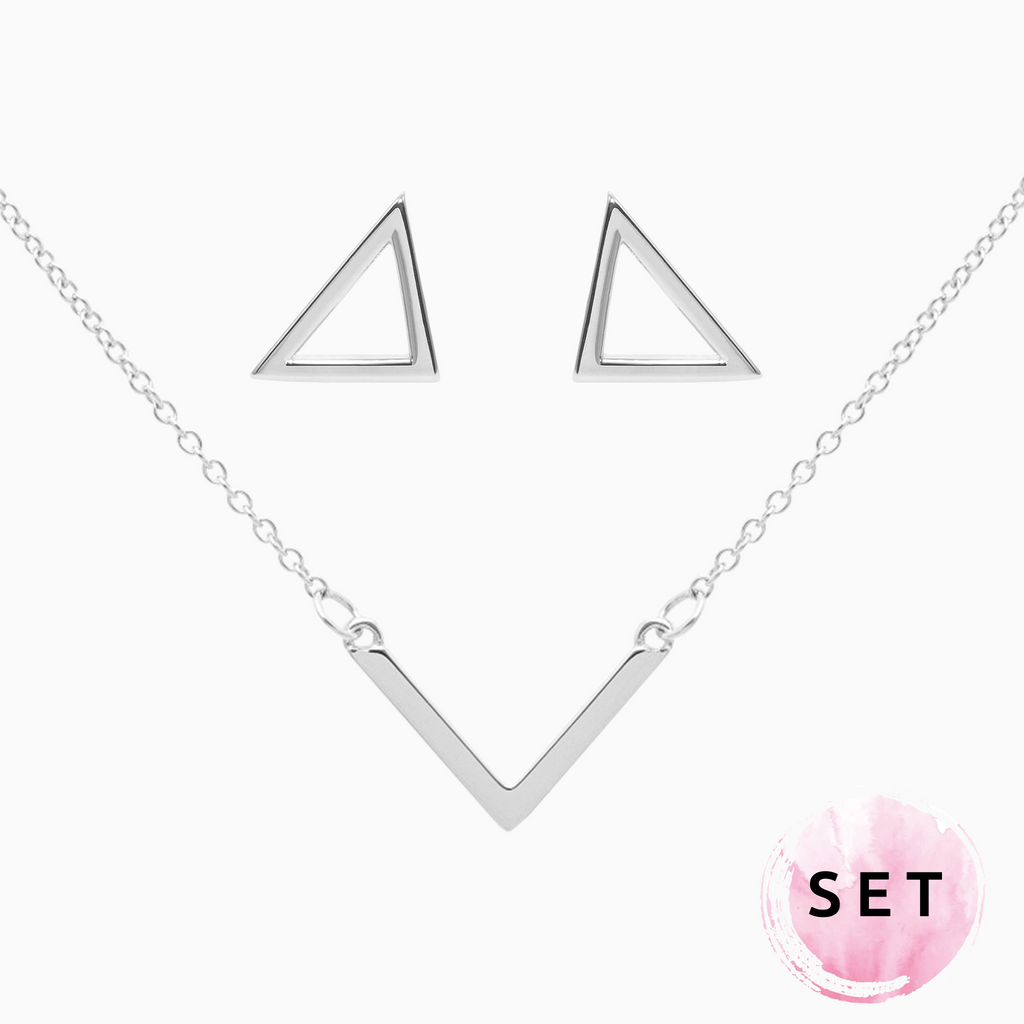 Set TRIANGLE silber
