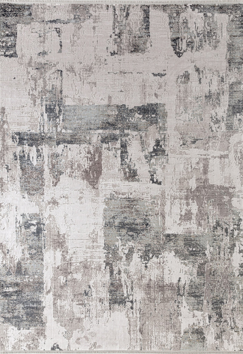 grey rug abstract design