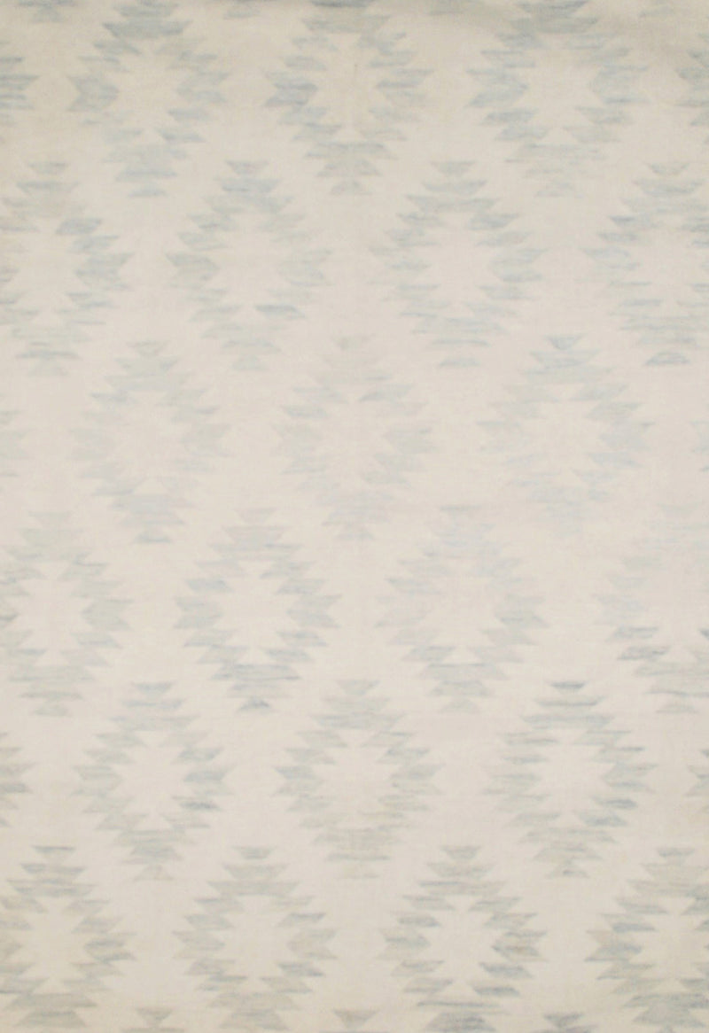 pale blue modern rug with geometric design