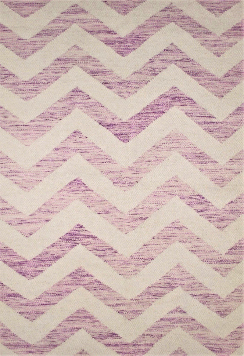 purple zig zag rug close up