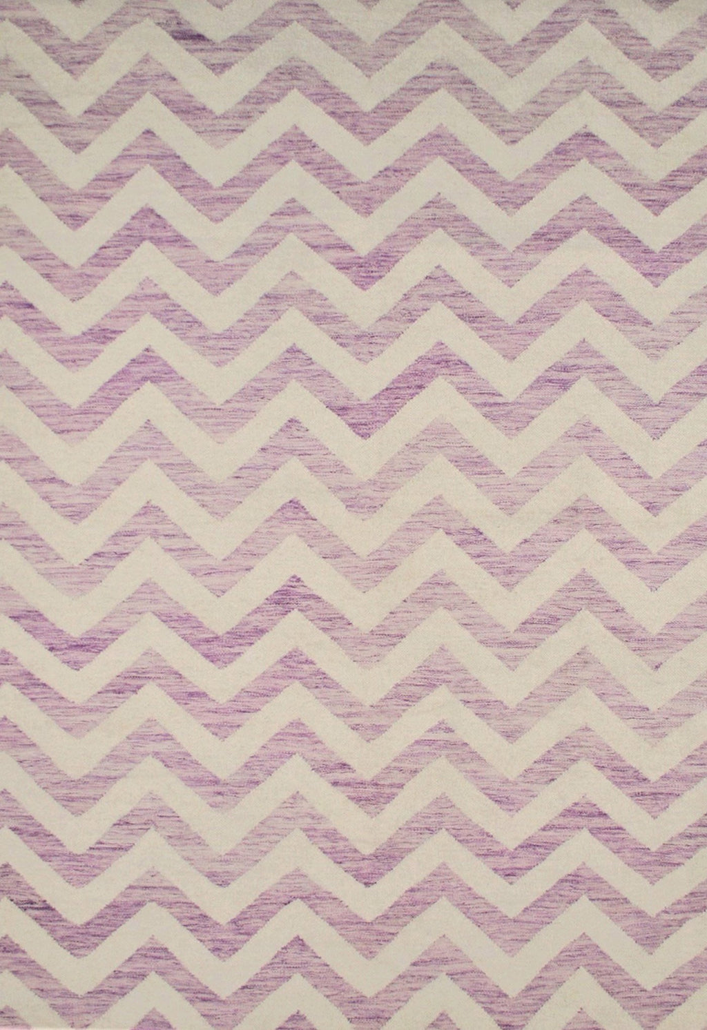 purple zig zag design rug in contemporary style