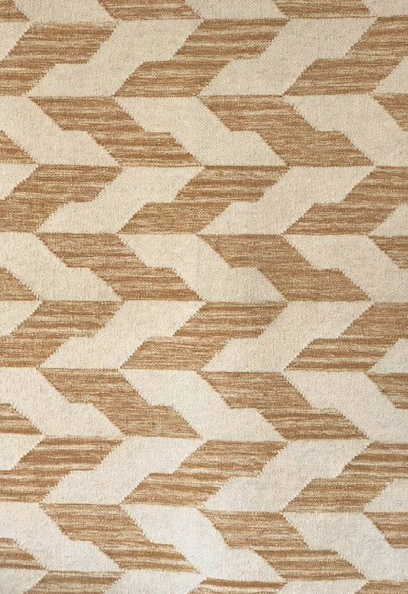 contemporary rug with geometric design