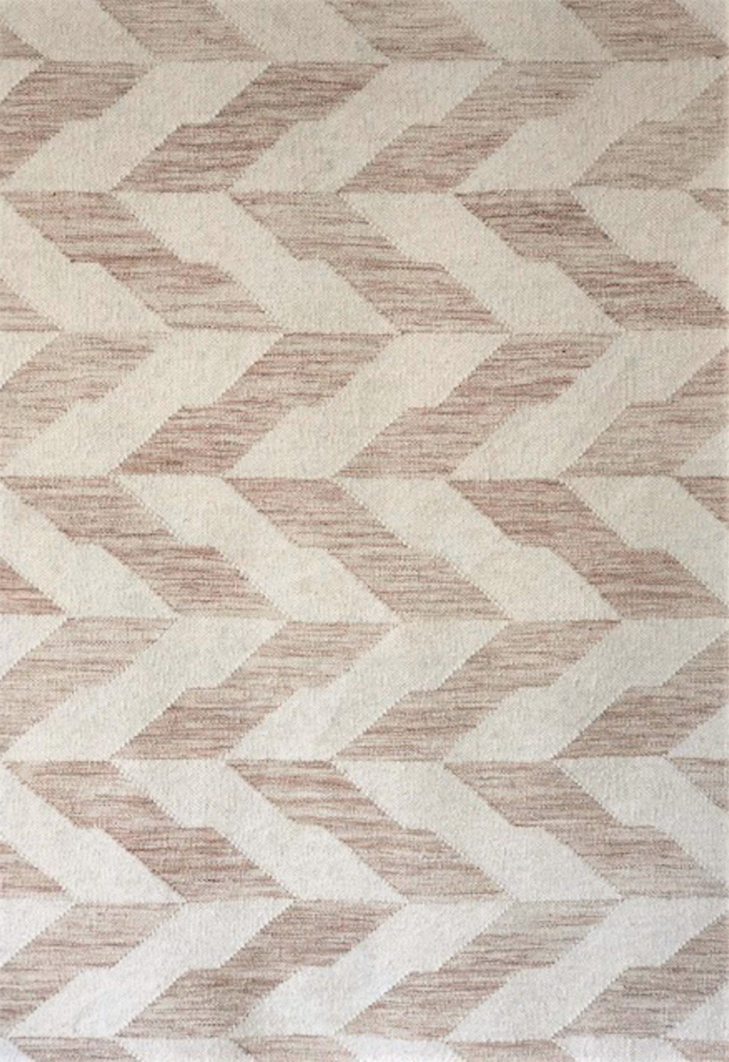 neutral geometric rug close up
