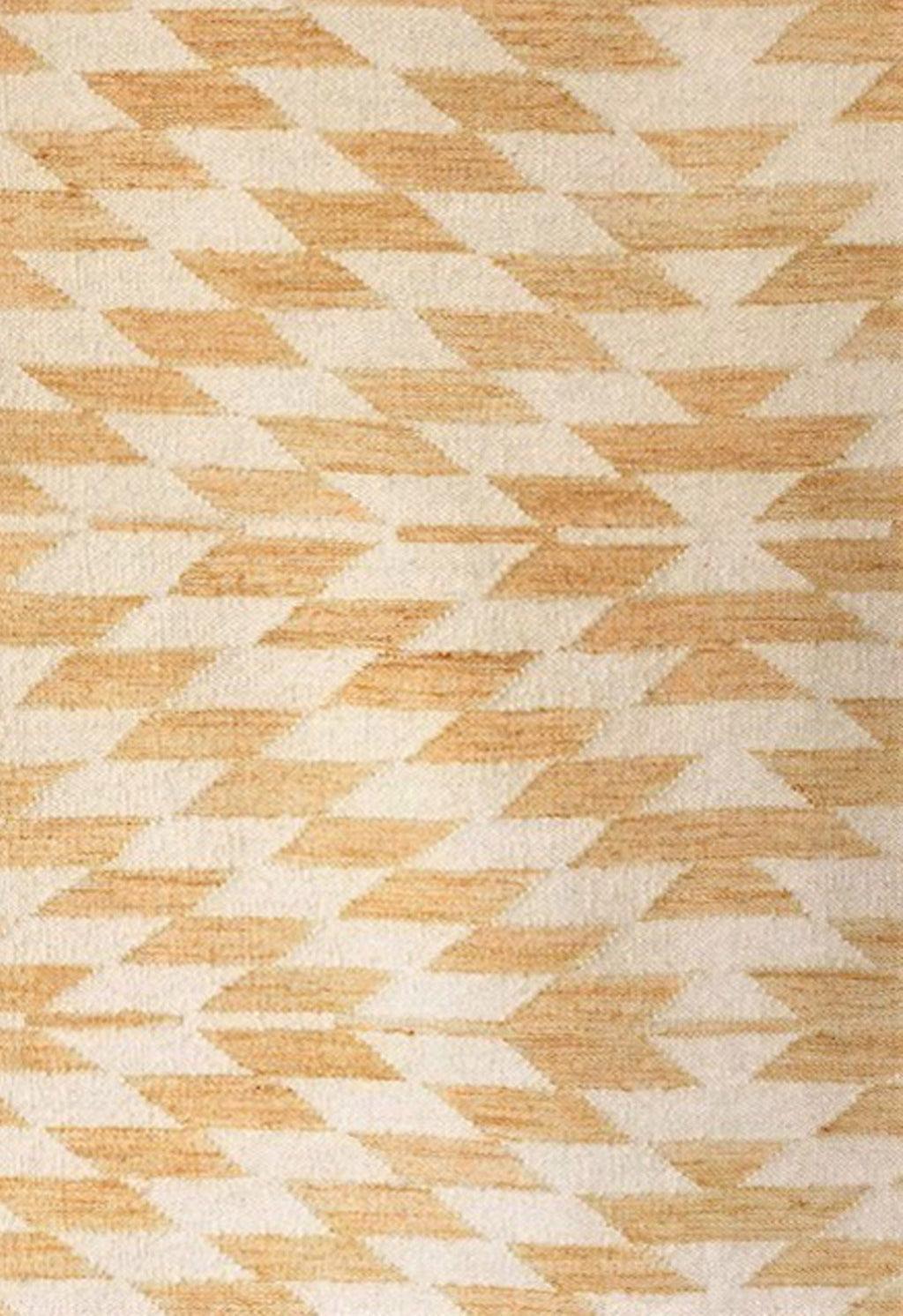yellow geometric rug