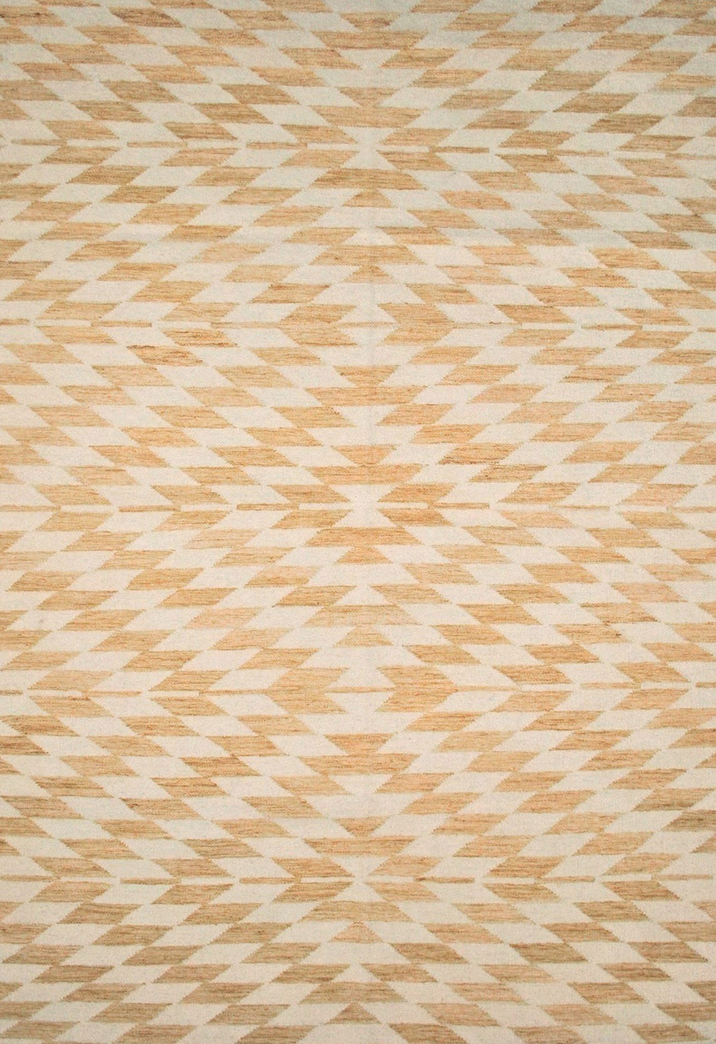 modern yellow rug with geometric design
