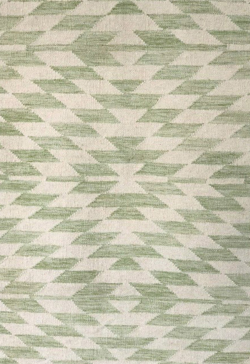 green contemporary rug