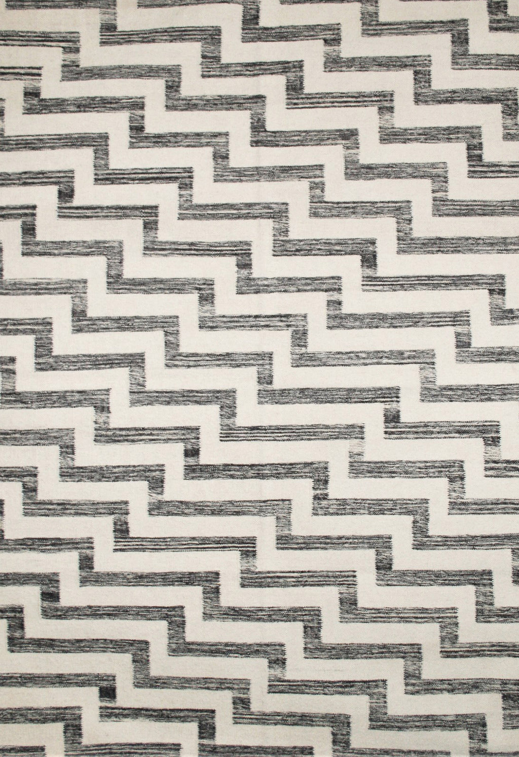 black and white contemporary rug