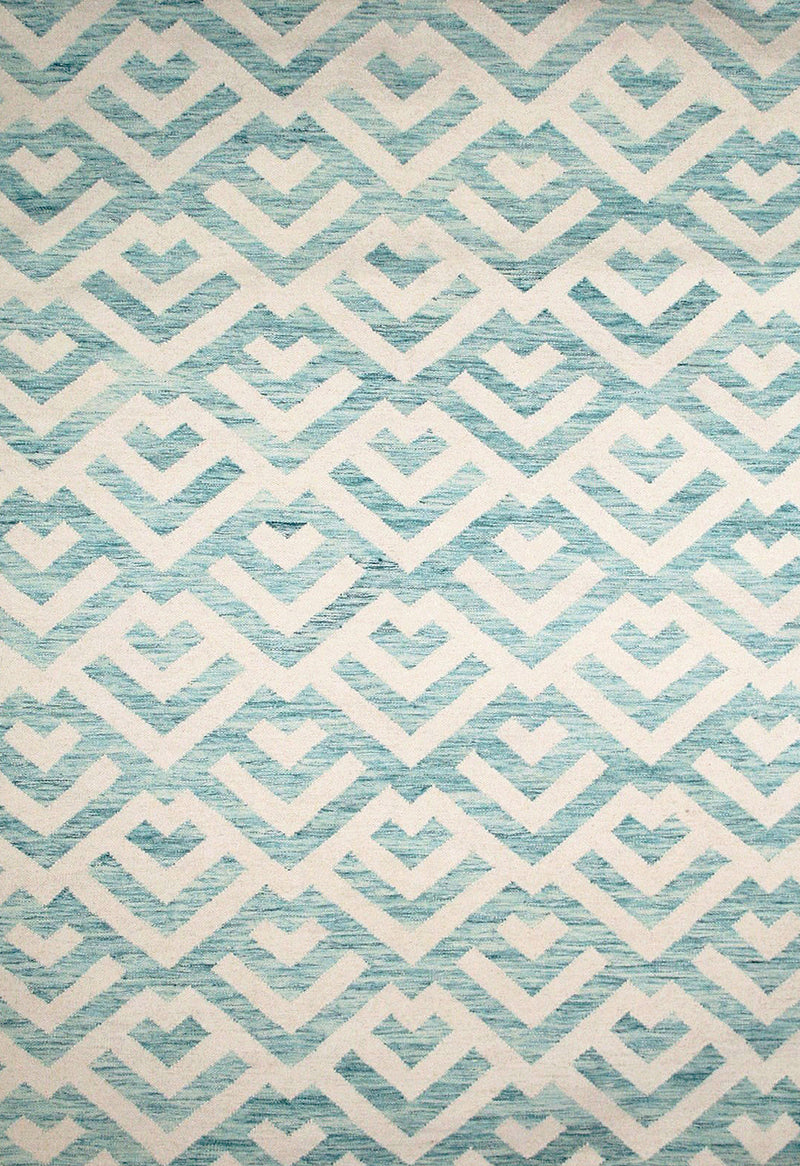 blue patterned rug modern design