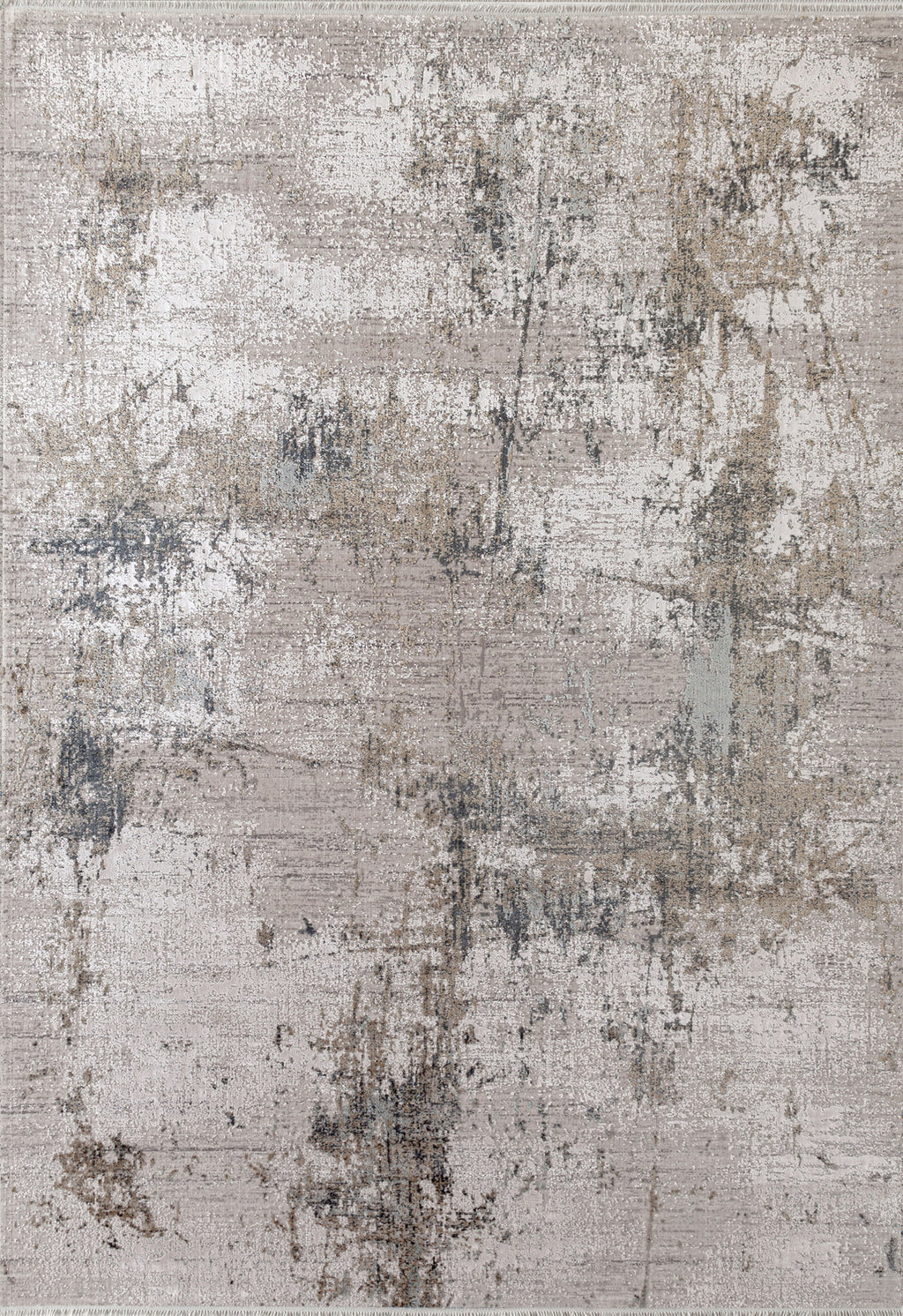 grey abstract rug