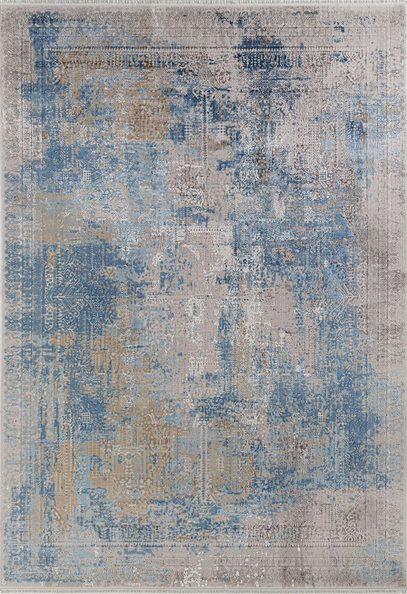 transitional blue rug