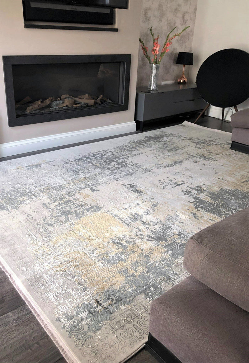 luxury rug in modern living room