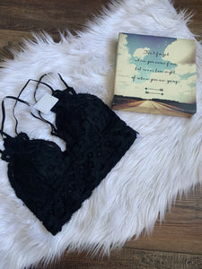 Beautiful To Me Bralette- Black