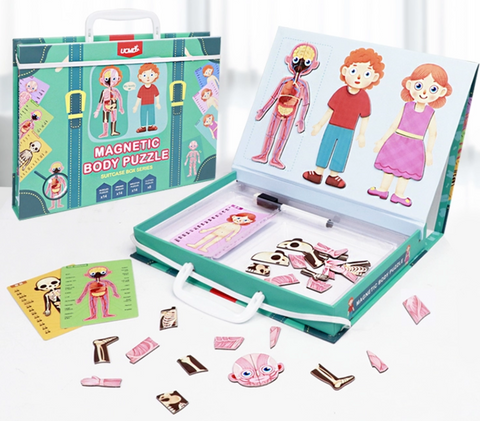 Magnetic Body Puzzle Suitcase