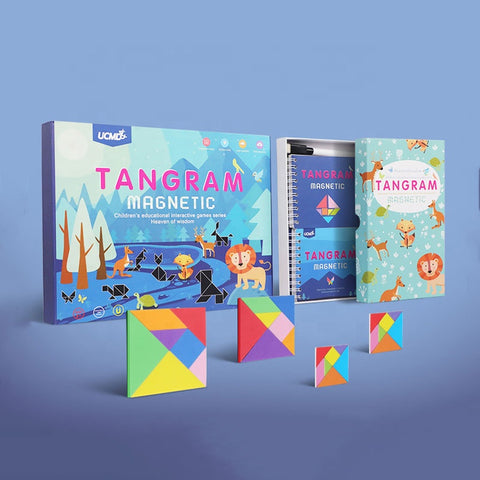 Deluxe Magnetic Tangram Set with Wipe Clean Board