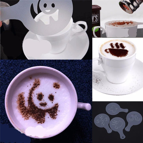 Image of Coffee Drawing Template Set (16pcs)