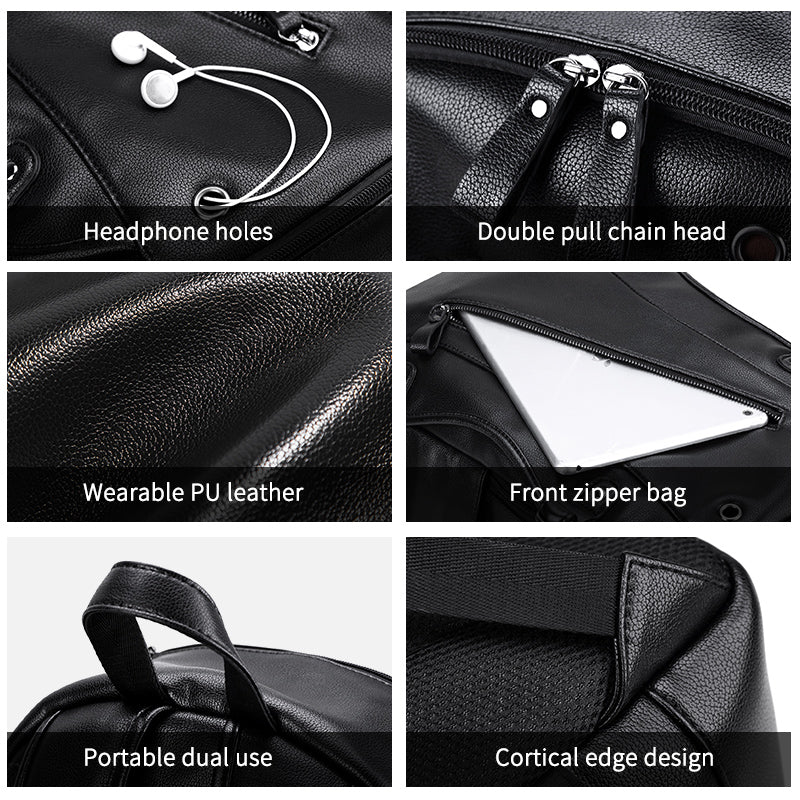 Ergonomic Leather Tech-Bag