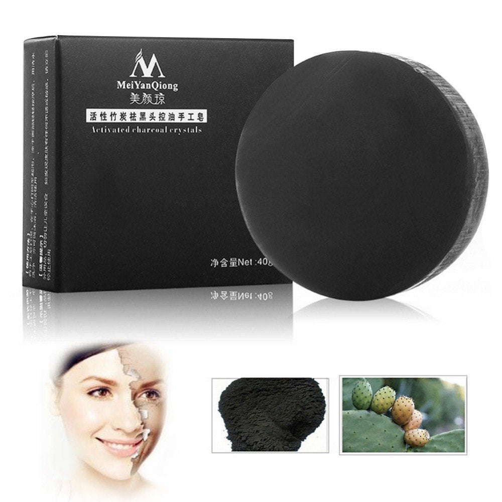 SPT® Activated Bamboo Charcoal Whitening Soap