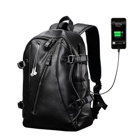 Image of Ergonomic Leather Tech-Bag