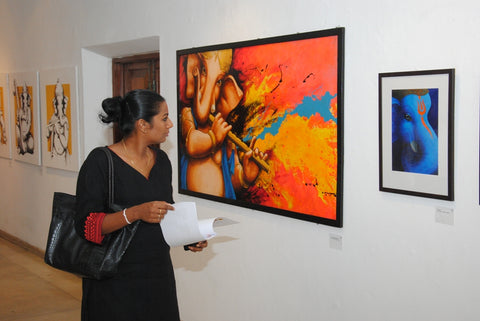 Ganesh paintings exhibition