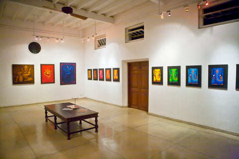 Barefoot exhibition space