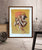 Flute player in Pink and Yellow - PRINTS-BF-Ganeshism