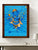 Dancing Lord Ganesh In Blue and Gold - PRINTS-BF-Ganeshism