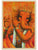Lord Ganesh with Flute in orange - PRINTS-BF-Ganeshism