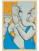 Minimal Lord Ganesh with Flute - PRINTS