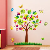 Sticker arbre muticolore