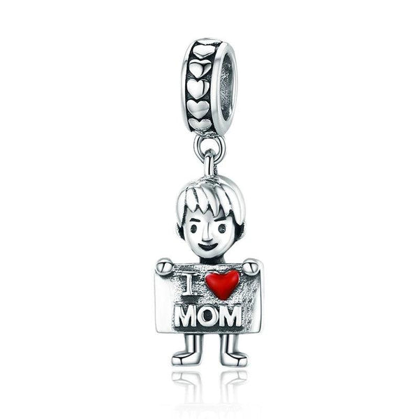 Charms garçon i love mom