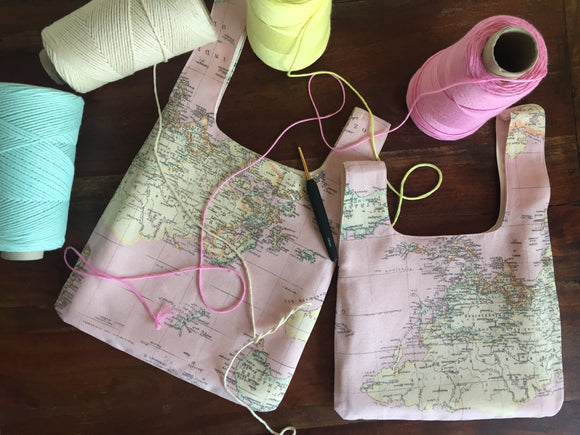 Bolsa TAKE-AWAY Rosa Mapa
