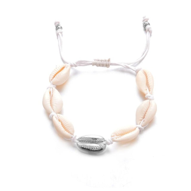 c9c458fb631ca Bohemian Natural Sea Shell Conch Anklets For Women Anklet Bracelet on Leg  Silver Gold Shell Bead Foot Chain Ankle Beach Jewelry