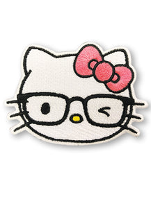 HELLO KITTY - HELLO KITTY WITH EYEGLASSES PATCH