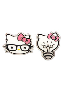 HELLO KITTY - KITTY HEAD AND LIGHT BULB ENAMEL PIN