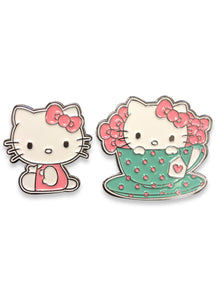 HELLO KITTY - TEA SET HELLO KITTY ENAMEL METAL PIN SET