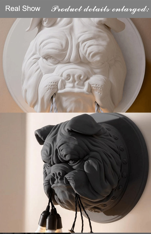 Animal LED Wall Sconce Modern Carton Dog Lamp