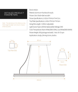 Aisilan Nordic Pendant Light Dinning table light Kitchen bar LED morden simple creative office resturant lighting