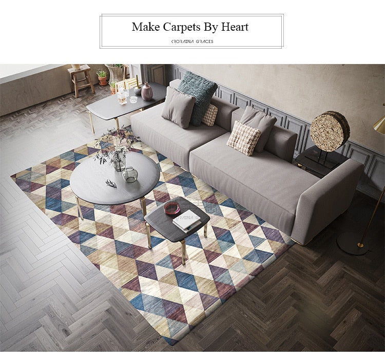 Nordic Style Simple Soft Polyester Carpets For Living Room Bedroom-carpet-Eills Collection-Eills Collection