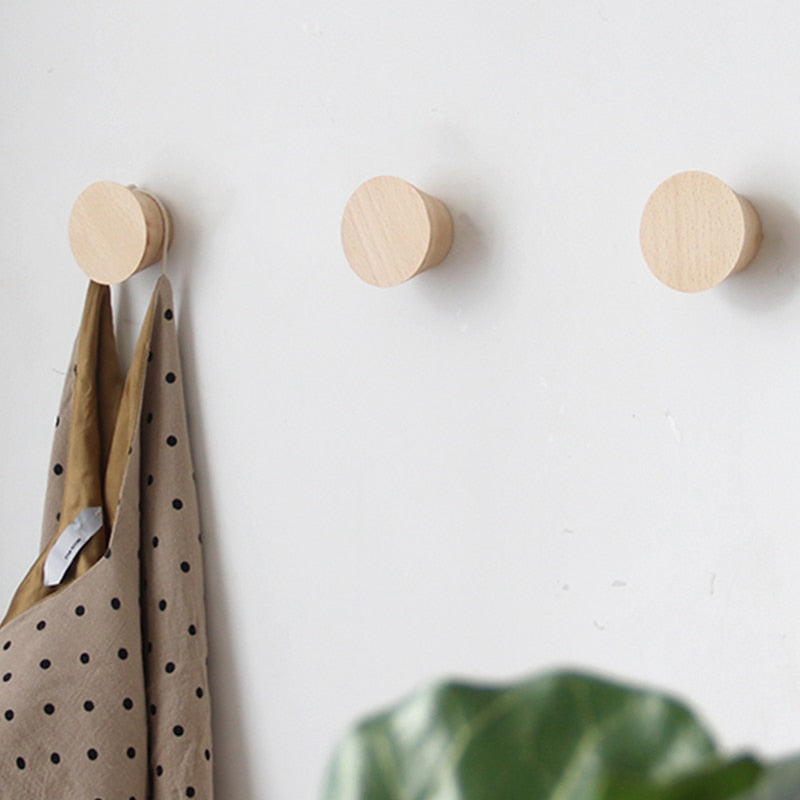 Beech Wood Clothes Robe Hooks Hangers