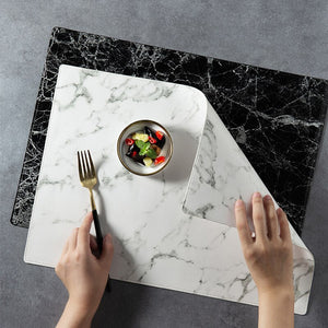 Leather PU Marbling Pattern Waterproof Mats Place Mats