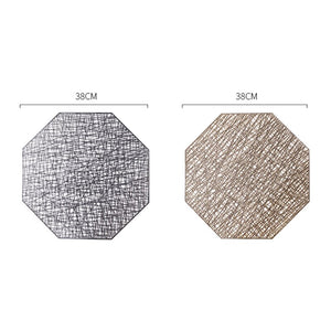 Geometric Gold Silver Hollow Place mat Cup Mat